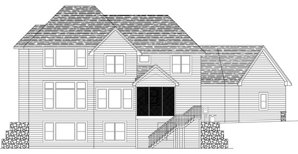 Traditional House Plan 42494 Rear Elevation