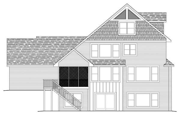Traditional House Plan 42496 Rear Elevation