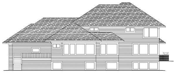Craftsman Prairie Style Southwest House Plan 42497 Rear Elevation