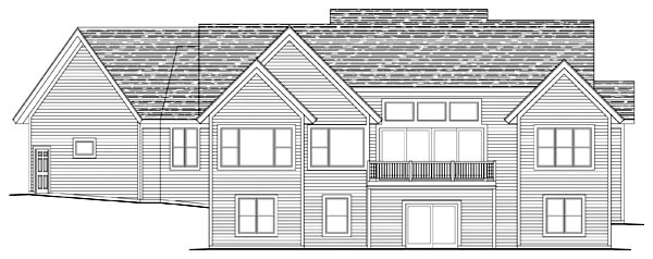 Craftsman Traditional House Plan 42498 Rear Elevation