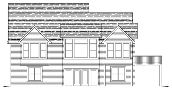 Ranch House Plan 42499 Rear Elevation