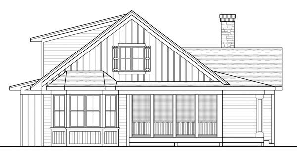 Cottage Farmhouse Ranch Traditional House Plan 42504 Rear Elevation