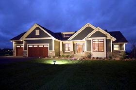 Craftsman , Traditional House Plan 42505 with 2 Beds, 2 Baths, 3 Car Garage Elevation