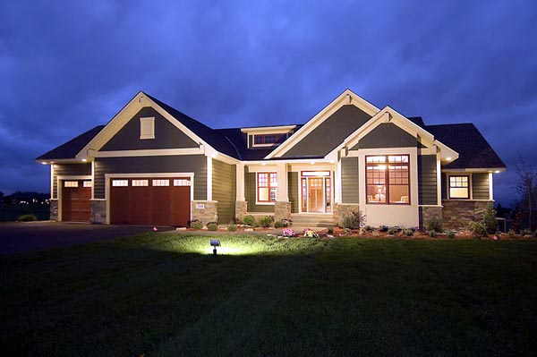 Craftsman, Traditional, House Plan 42505 with 2 Beds, 2 Baths, 3 Car Garage Elevation