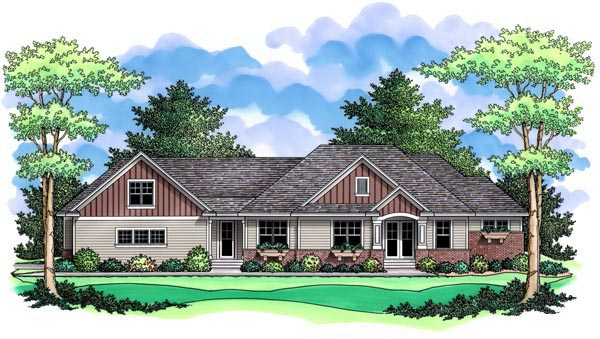 Ranch Traditional House Plan 42510 Elevation