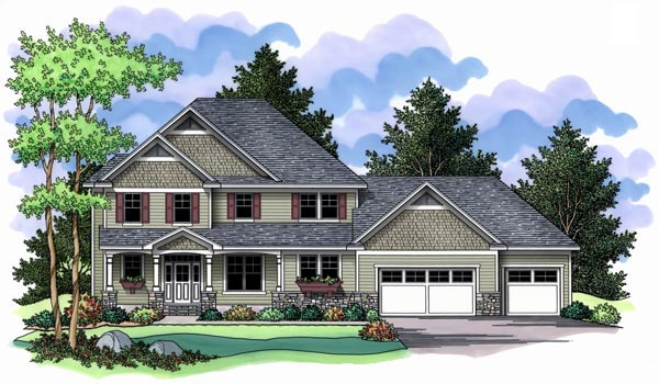 Farmhouse Traditional House Plan 42511 Elevation