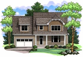 House Plan 42513 | Craftsman Traditional Style Plan with 2839 Sq Ft, 3 Bedrooms, 3 Bathrooms, 2 Car Garage Elevation