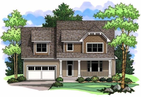 Craftsman Traditional House Plan 42513 Elevation