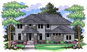 Craftsman , Traditional House Plan 42518 with 4 Beds, 3 Baths, 3 Car Garage Elevation