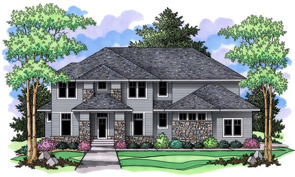 Craftsman Traditional House Plan 42518 Elevation