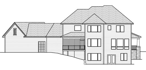 Traditional House Plan 42522 Rear Elevation