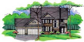 Country Craftsman Traditional House Plan 42528 Elevation