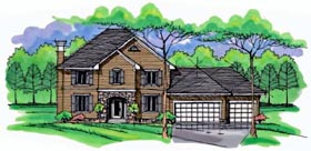 House Plan 42529 | Country Craftsman Traditional Style Plan with 2549 Sq Ft, 4 Bedrooms, 3 Bathrooms, 3 Car Garage Elevation