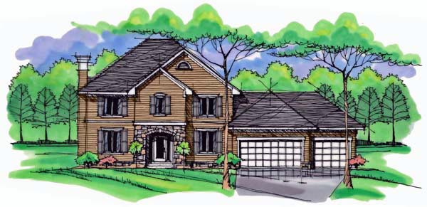 Country , Craftsman , Traditional House Plan 42529 with 4 Beds, 3 Baths, 3 Car Garage Elevation