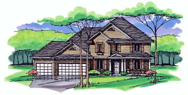 Country Craftsman Traditional House Plan 42530 Elevation