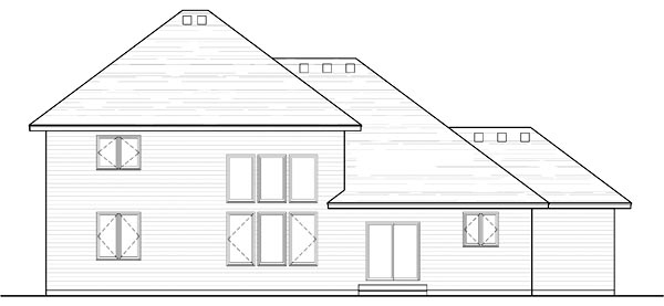 Country Craftsman Traditional House Plan 42530 Rear Elevation