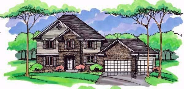 Country Craftsman Traditional House Plan 42531 Elevation