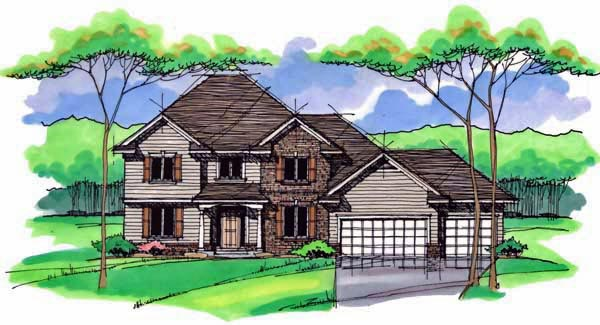 Country Craftsman Traditional House Plan 42532 Elevation