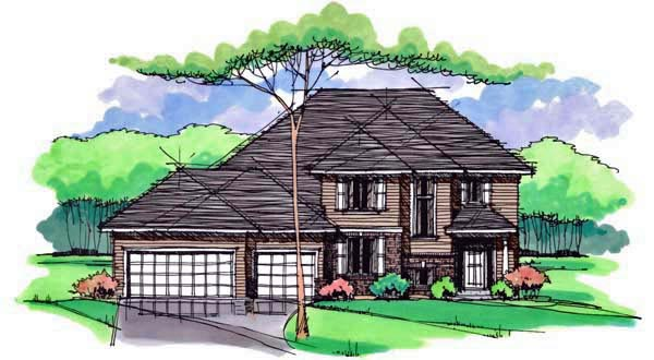 Country Craftsman Traditional House Plan 42533 Elevation
