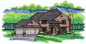 Country Craftsman Traditional House Plan 42534 Elevation