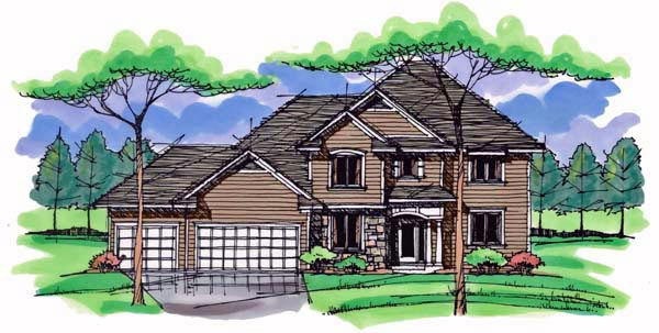 Country Craftsman Traditional House Plan 42535 Elevation