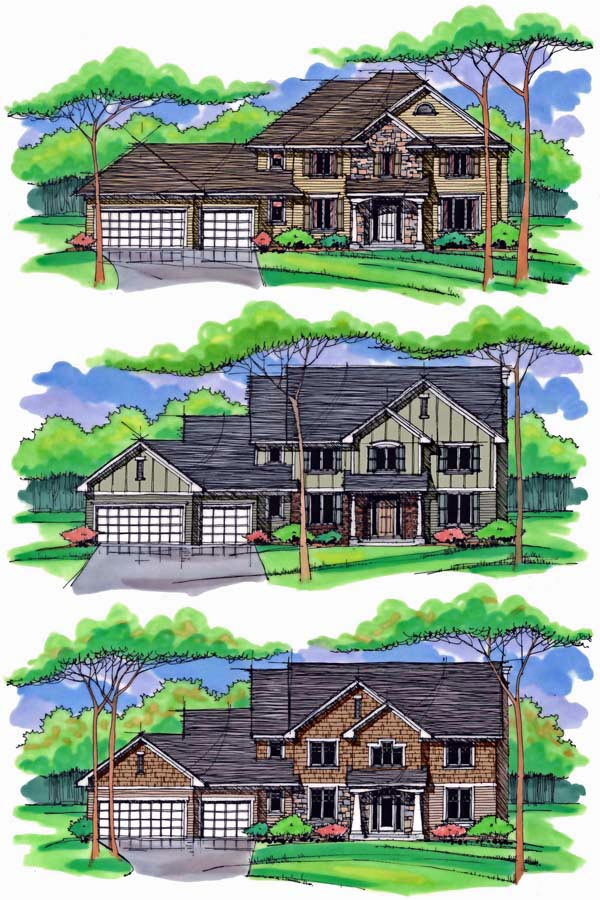 Country, Craftsman, Traditional House Plan 42536 with 4 Beds, 3 Baths, 3 Car Garage Picture 1