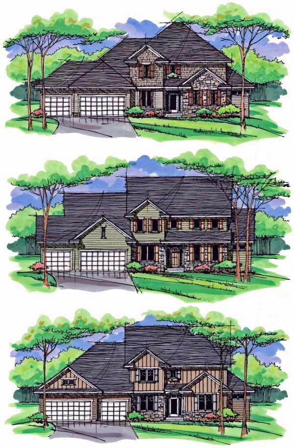 Country, Craftsman, Traditional House Plan 42537 with 4 Beds, 3 Baths, 3 Car Garage Picture 1