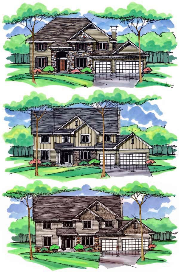 Country, Craftsman, Traditional House Plan 42538 with 4 Beds, 3 Baths, 3 Car Garage Picture 1