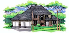 Country Craftsman Traditional House Plan 42539 Elevation