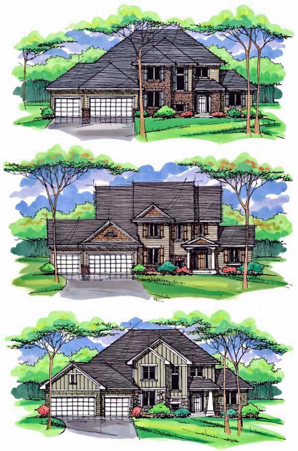 Country, Craftsman, Traditional House Plan 42539 with 4 Beds, 3 Baths, 3 Car Garage Picture 1