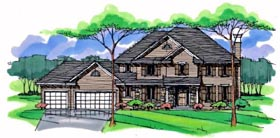 Country , Craftsman , Traditional House Plan 42540 with 4 Beds, 4 Baths, 3 Car Garage Elevation