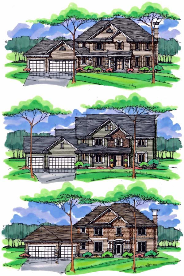 Country, Craftsman, Traditional House Plan 42540 with 4 Beds, 4 Baths, 3 Car Garage Picture 1
