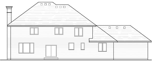 Country Craftsman Traditional Rear Elevation of Plan 42540