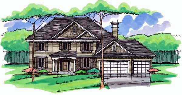 Country Craftsman Traditional House Plan 42542 Elevation