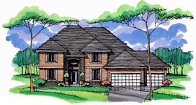 Country Craftsman Traditional House Plan 42543 Elevation