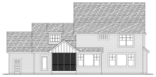 Craftsman House Plan 42545 Rear Elevation