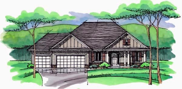 Cottage Country Craftsman European Ranch Traditional House Plan 42546 Elevation