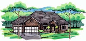 Cottage Country Craftsman European Ranch Traditional House Plan 42548 Elevation