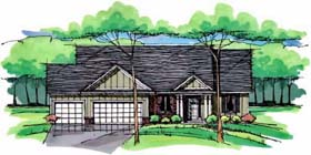 Traditional , Ranch , European , Craftsman , Country , Cottage House Plan 42549 with 1 Beds, 2 Baths, 3 Car Garage Elevation