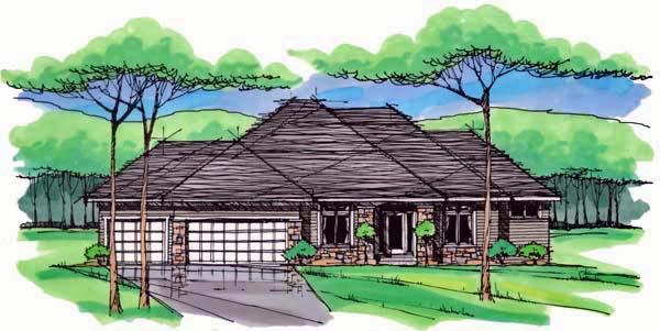 Cottage Country Craftsman European Ranch Traditional House Plan 42550 Elevation