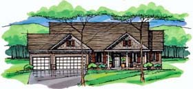 Cottage Country Craftsman European Ranch Traditional House Plan 42551 Elevation