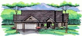 Cottage , Country , Craftsman , European , Ranch , Traditional House Plan 42552 with 1 Beds, 2 Baths, 3 Car Garage Elevation