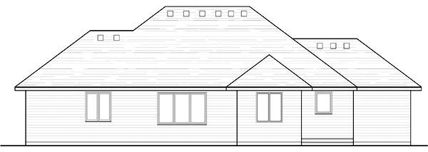 Cottage Country Craftsman European Ranch Traditional House Plan 42552 Rear Elevation