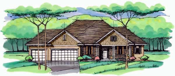 Cottage Country Craftsman European Ranch Traditional House Plan 42553 Elevation