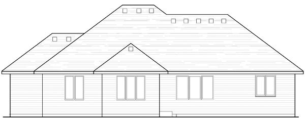 Cottage Country Craftsman European Ranch Traditional House Plan 42556 Rear Elevation