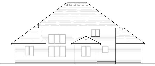 Colonial Cottage Country Craftsman European Traditional House Plan 42559 Rear Elevation