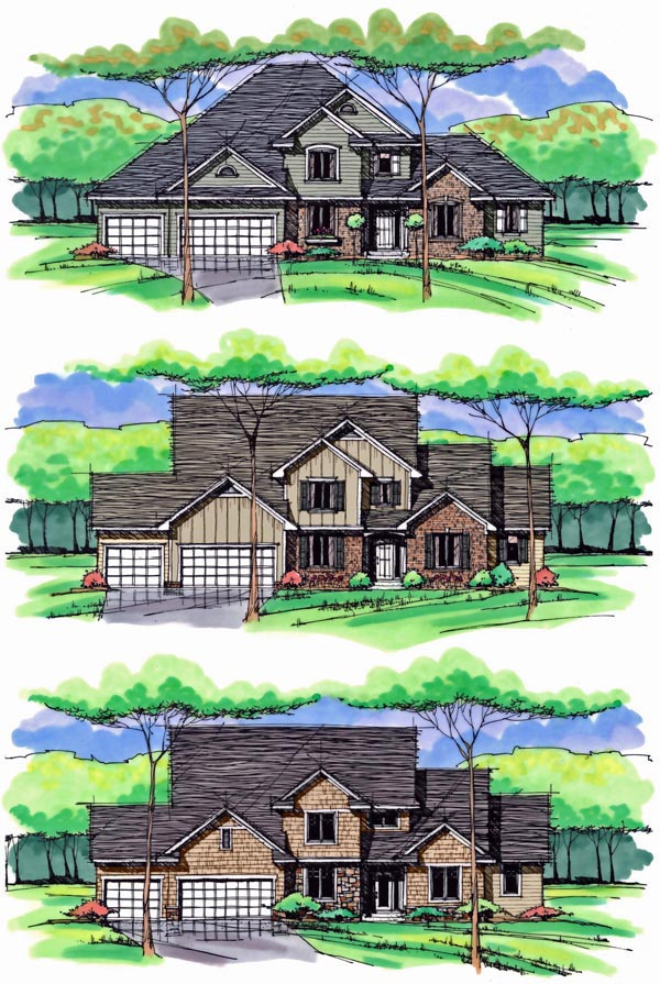 Colonial, Cottage, Country, Craftsman, European, Traditional House Plan 42561 with 4 Beds, 4 Baths, 3 Car Garage Picture 1