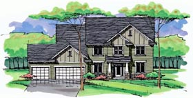 Colonial Cottage Country Craftsman European Traditional House Plan 42562 Elevation