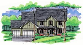 Colonial Cottage Country Craftsman European Traditional House Plan 42563 Elevation