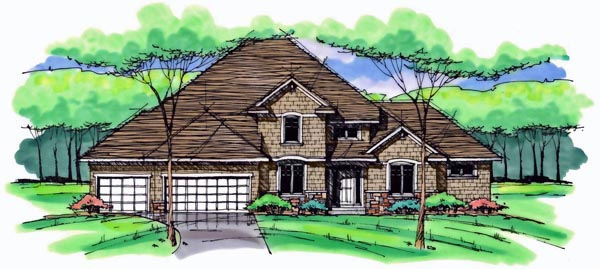 Colonial Cottage Country Craftsman European Traditional House Plan 42564 Elevation
